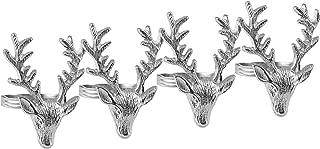 Metal Stag Napkin Ring Set of 4
