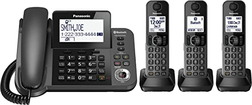 PANASONIC Corded / Cordless Phone with Link2Cell Bluetooth and Answering Machine..