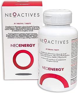 NeoEnergy   Suplemento con Acetil L-Carnitina, Fosfatidilserina, Alfa Glicerilfosforilcolina, Ácido R-Alfa Lipoico, NADH y Vitamina B3   Ayuda a disminuir el cansancio y fatiga (30)
