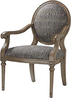 Amazon Com Madison Park Multi Arnau Goose Neck Arm Chair
