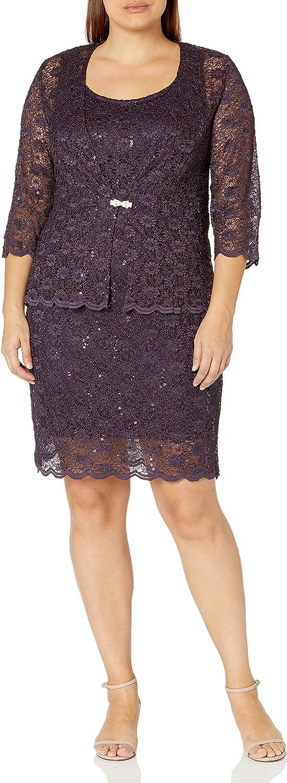 R&M Richards Women's Womans Petite Mob Jacket Dress