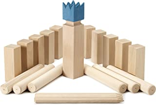Kubbspel Classic Kubb Game Blue King (Made in Italy)