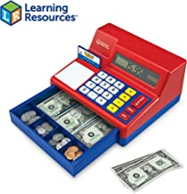 Learning Resources Pretend & Play Calculator Cash Register, Classic Counting Toy, 73 Pieces, Ages 3+