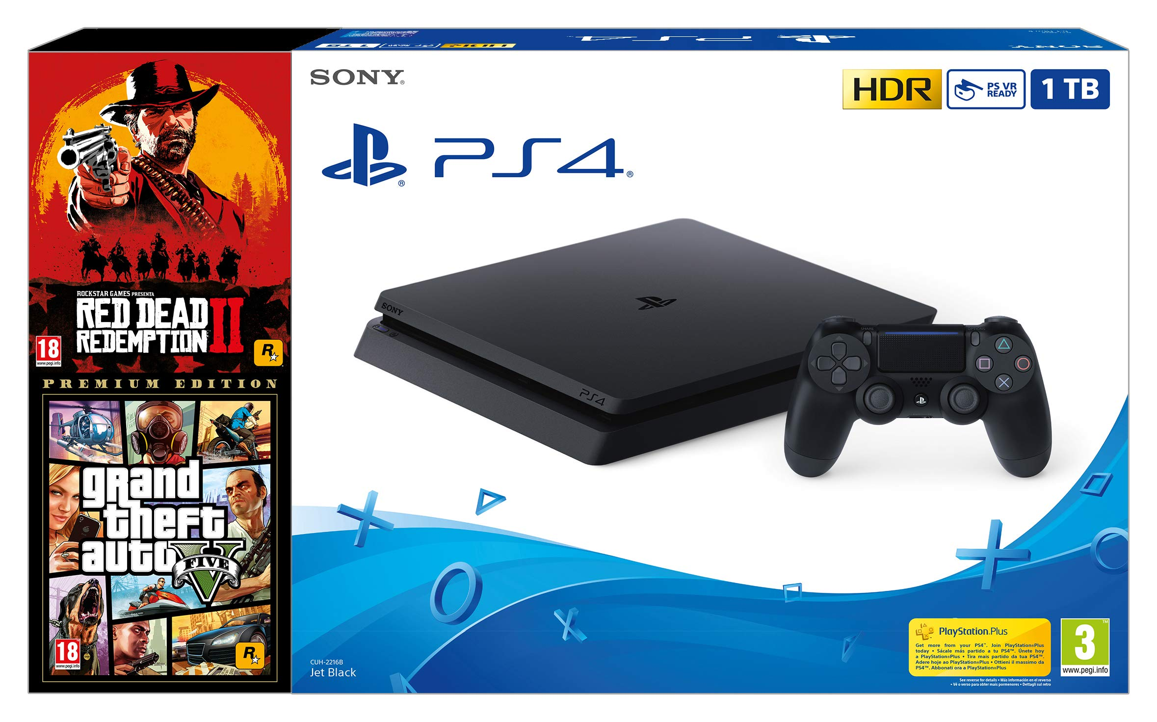 Ardistel - Bundle PS4 New F 1TB + Red Dead Redemption II + Grand Theft Auto V (Premium Edition): Sony: Amazon.es: Videojuegos