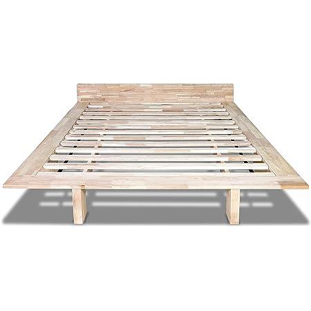 Cama de madera modelo Nokido 90 x 200 con láminas y tatami ...