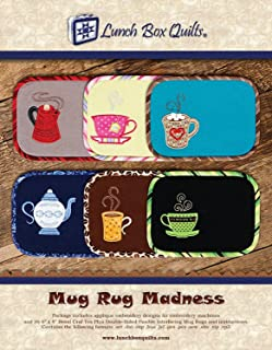 Lunch Box Quilts ECMRDD Mug Rug Madness pattern, Small, Beige