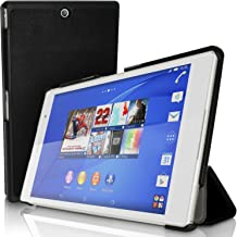 iGadgitz Premium Black PU Leather Smart Cover Case for Sony Xperia Z3 Tablet Compact SGP611 with Multi-Angle Viewing Stand + Auto Sleep/Wake + Screen Protector