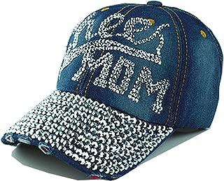 Donna Pierce Baseball Caps top fashion Rhinestones Jean hat Denim Cap Snapback summer Hats hip hop NO 3 As picture