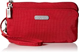 Baggallini Double Zip Wristlet with RFID Protection ? Lightweight Wristlet with Zipped Compartments for Smart Phones and More