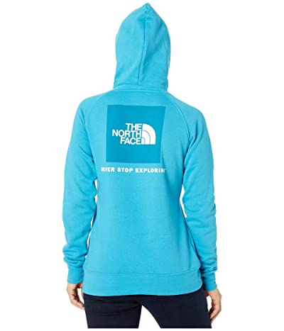The North Face Red Box Pullover Hoodie (Barrier Reef Blue/TNF White) Women