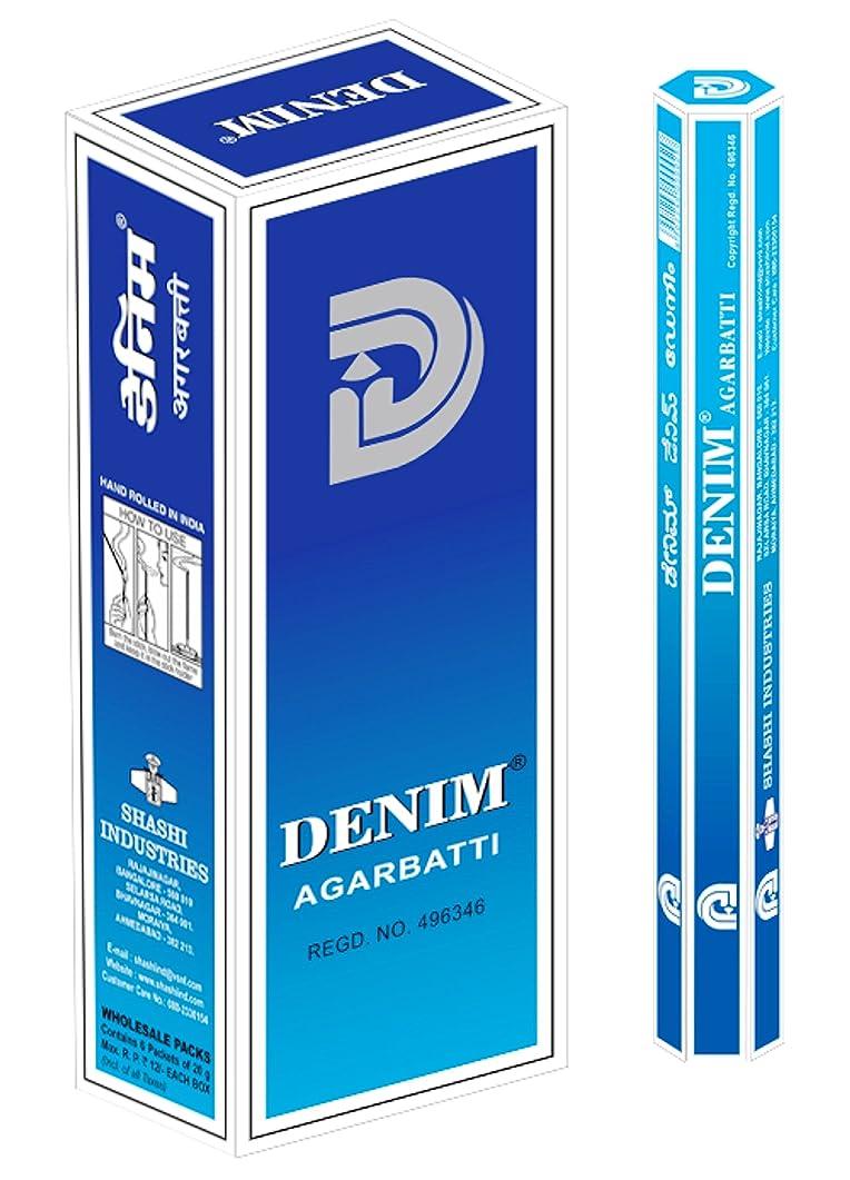 傑作終了する熟読するSHASHI社 スティック型インドお香 DENIM 6箱セット
