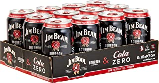 Jim Beam Bourbon & Cola Zero Dose, eine perfekte Mischung, 10% Vol, 12 x 0,33l Einweg