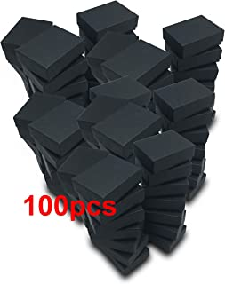 """TheDisplayGuys 100-Pack #11 Cotton Filled Cardboard Paper Jewelry Box Gift Case - Matte Black (2 1/8"""" x 1 6/8"""" x 3/4"""")"""