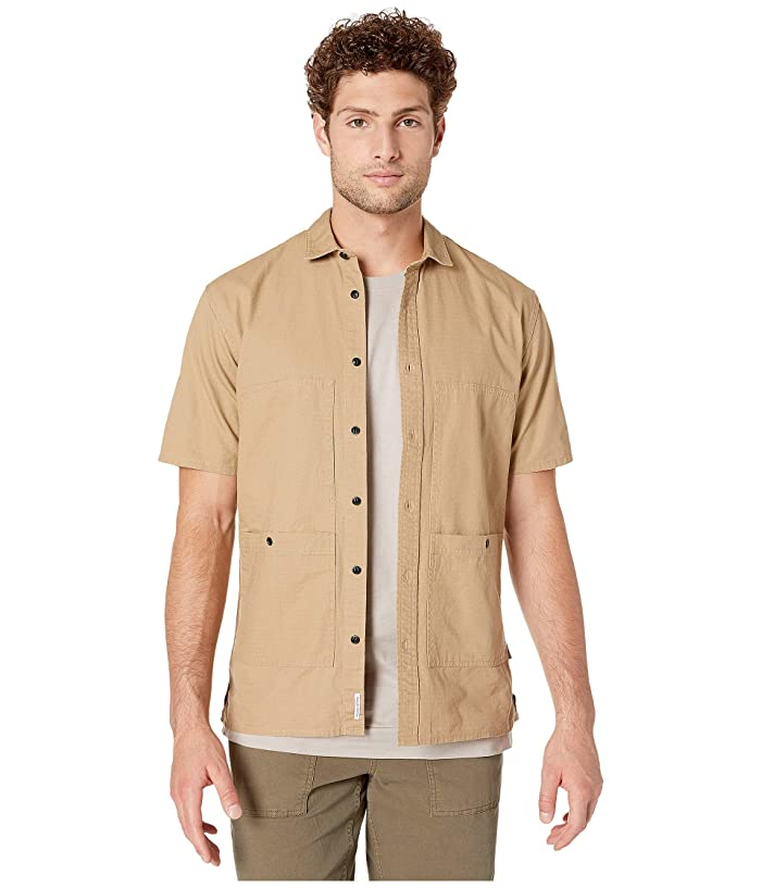 Men's Vintage Workwear – 1920s, 1930s, 1940s, 1950s Publish Ade Button-Up Shirt Tan Mens Clothing $66.00 AT vintagedancer.com