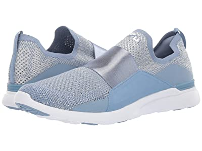 Athletic Propulsion Labs (APL) Techloom Bliss (Grey Denim/Metallic Silver/White) Men