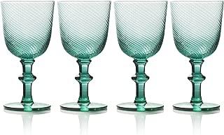 Mikasa 5228375 Avalon Goblets, Set of 4, 14-Ounce, Green