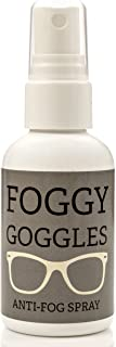 Foggy Goggles Anti-Fog Spray - Glass & Plastic Mist Prevention Solution - Non-Toxic Formula - Ideal For Crystal Clear Swimming Goggles, Dive Masks, Windows, Mirrors & More