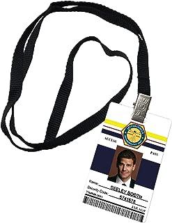 Seeley Booth Jeffersonian Institute Bones Novelty ID Badge Prop Costume
