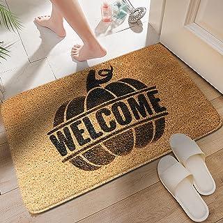 Halloween Doormat Blanket Welcome Home Front Door Decorations Halloween Decor Door Mat Anti-Slip Bottom Indoor Outdoor Carpet