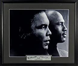 "Muhammad Ali & Michael Jordan ""The Greatest"" 11x14 Photograph (SG Signature Engraved Plate Series) Framed"
