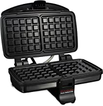 Chef'sChoice 852 Classic WafflePro Nonstick Waffle Maker Features Adjustable Baking Control and Instant Temperature Recovery for Delicious Waffles and Includes Built-in Cord Storage, 2-Square, Silver