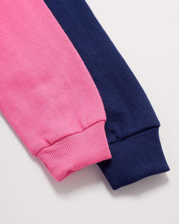 B.U.M. Equipment Girls' Sweatshirt - Active Fleece Pullover Hoodie (2 Pack)