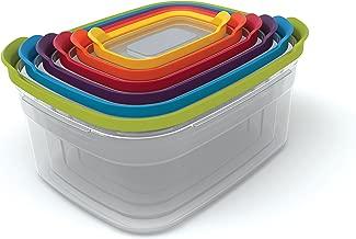 Joseph Joseph 81009 Food Storage Container, 12-Piece, Multicolored