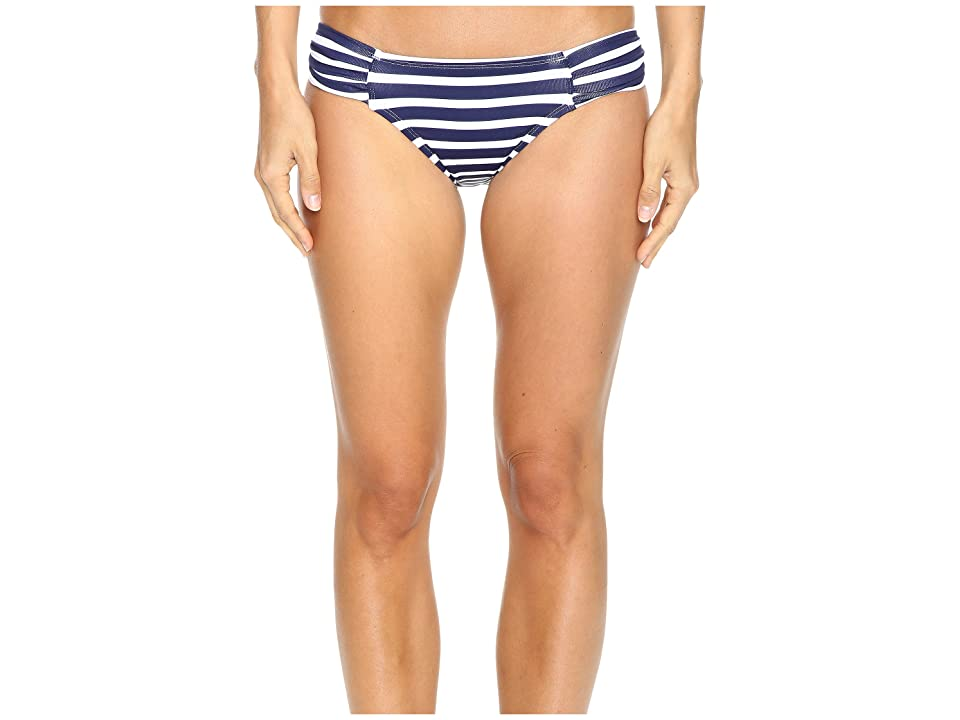 Tommy Bahama Breton Stripe Side-Shirred Hipster Bikini Bottom (Mare Navy/White) Women