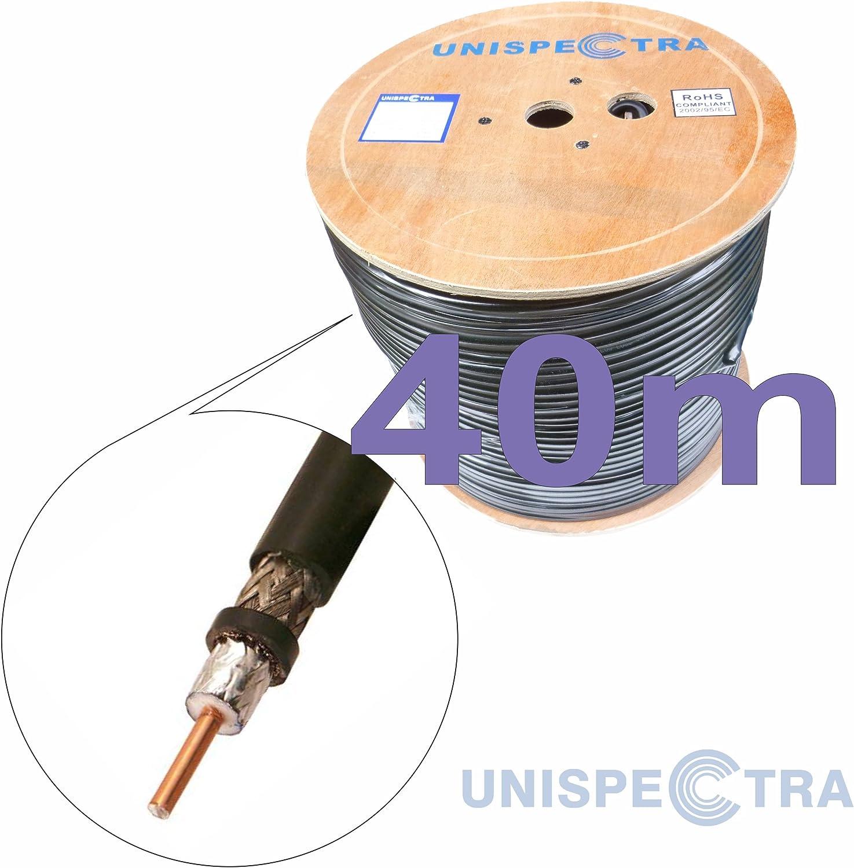 50 ohm Cable coaxial muy baja pérdida – S400 receptores aficionados para repetidores WiFi GSM 3G 4G Antenas/receptores de radio (5 m)