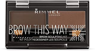 Rimmel London, Brow This Way Sculpting Eye Brow Palette, Dark Brown