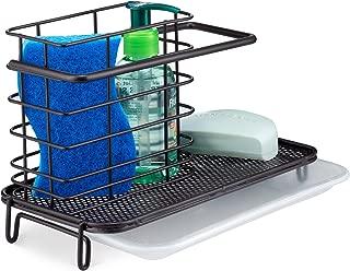 Saganizer Kitchen Sink Caddy Holder for Dish Soap or Sink Sponge Holder - Brush Holder Sink Tidy Bronze Finish Kitchen Sink Caddy