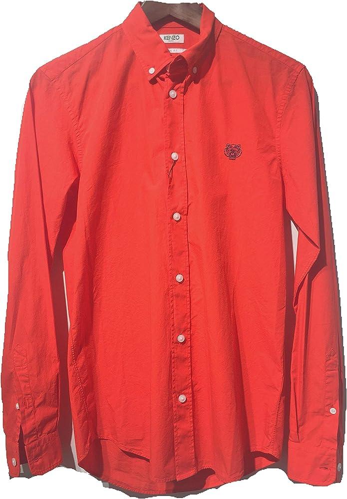 Kenzo ,camicia per uomo, tiger crest ,100% cotone