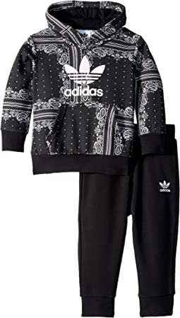 adidas Originals Kids - Bandana Hoodie & Pants Set (Infant/Toddler)