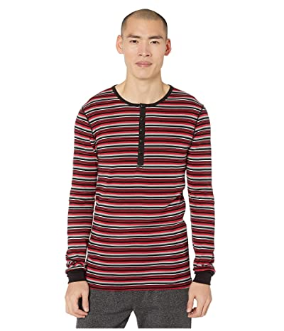 2(X)IST Essentials L/S Henley (Stripe Scooter Red) Men