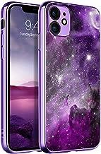 BENTOBEN iPhone 11 Case, Slim Fit Glow in The Dark Hybrid Hard PC Soft TPU Bumper Drop Protective Girls Women Men Phone Cover for iPhone 11 6.1 inch, Purple Galaxy