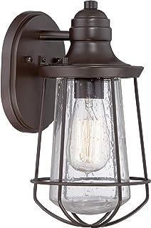 Quoizel MRE8406WT Marine Vintage Industrial Outdoor Lantern Wall Sconce, 1-Light, 100 Watts, Western Bronze (11  H x 6  W)