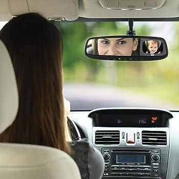 Travel Bug Baby & Toddler Car Back Seat Safety Jumbo Mirror - Shatter Resistant - Rear & Forward Facing (Jumbo)