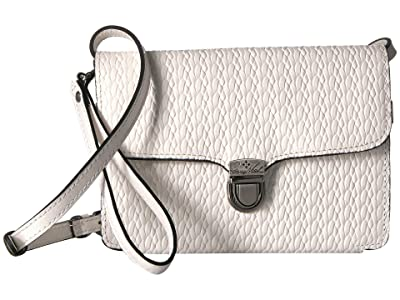 Patricia Nash Twisted Woven Embossed Bianco Crossbody (White) Cross Body Handbags