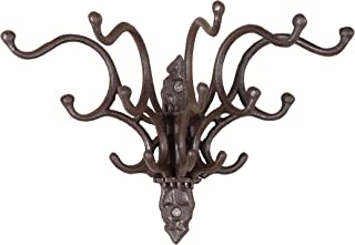 Creative Co-op Antique Cast Iron Wall Hooks with Rust Finish