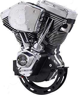 Ultima El Bruto EPA Certified or CARB Compliant Evolution Style Big Bore Motorcycle Engine (Chrome & Wrinkle Black Finish, 127 Cubic Inches)