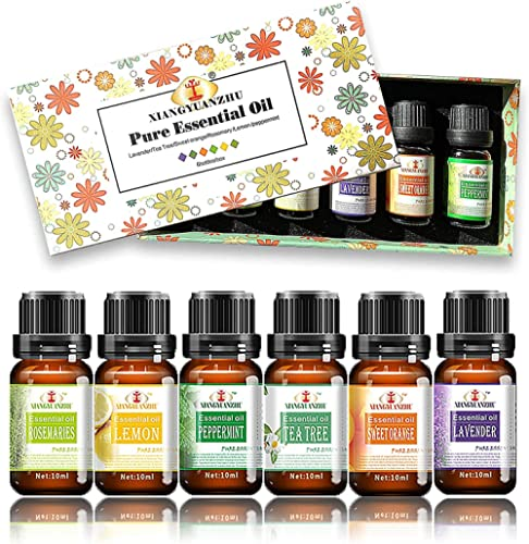 ALENYK Huile Essentielle, Set de 6 Huile Essentielle Bio avec Coffret Cadeau Aromathérapie Huile Parfumé Naturelles, ...