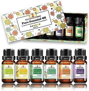 ALENYK Huile Essentielle, Set de 6 Huile Essentielle Bio avec Coffret Cadeau Aromathérapie Huile Parfumé Naturelles, Six E...