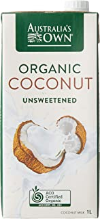 Australia's Own Unsweetened Coconut Milk, 1L (Pack of 8)