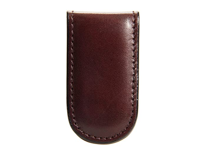 Bosca  Old Leather Collection - Magnetic Money Clip (Dark Brown Leather) Wallet