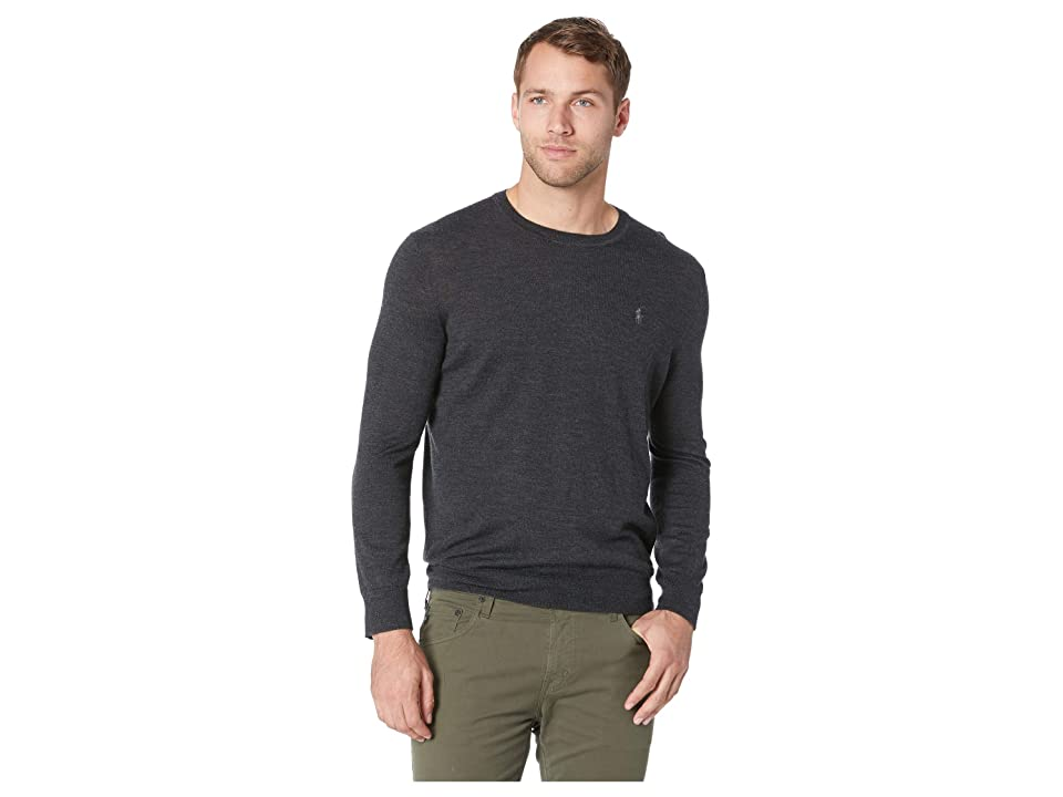 Polo Ralph Lauren Washable Merino Crew Neck Sweater (Dark Granite Heather) Men