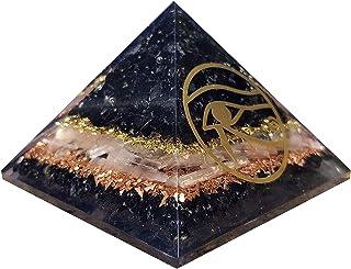Piramide di orgone con tormalina nera Orgonite Protezione EMF Piramide di selenite per cristalli di carica Occhio di Horus...