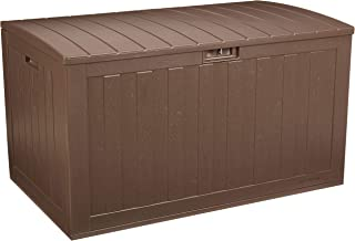 AmazonBasics 134-Gallon Resin Deck Storage Box, Mocha