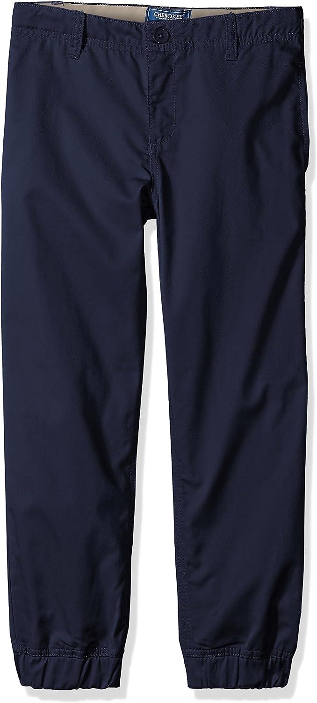 CHEROKEE Boys Uniform Twill Jogger Pant with Adjustable Waist