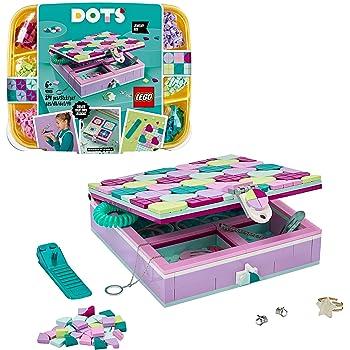 LEGO DOTS BoxGioielli con Elementi Decorativi, Set Bigiotteria Set Fai da Te, Kit Artistici per Bambini, Idee Regalo per l'Arredo e Accessori da Scrivania, 41915