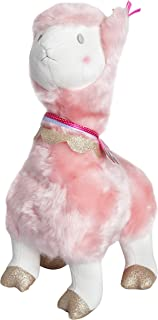 """FAO Schwarz 20"""" Llama Alpaca Plush Stuffed Animal in Pink with Ultra Plush Fur and Glitter Gold Hooves, Soft and Snuggly Doll for Kids"""